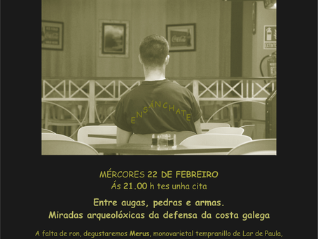 Charlas de Rebeca Blanco Rotea e Francisco Alonso Toucido no Alba Café