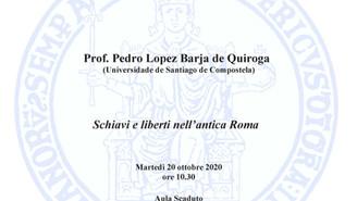 """Conferencia """"Schiavi e liberti nell'antica Roma"""""""