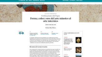 Conferencia, Forma, color y oro: del arte minoico al arte micénico