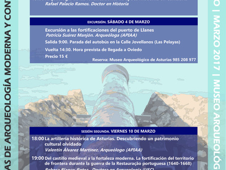 Charla de Rebeca Blanco Rotea en Oviedo (I Jornadas de Arqueología Moderna y Contemporánea)