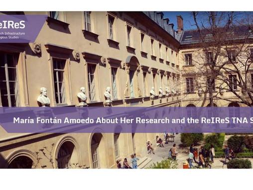 Estancia de investigación de María Fontán Amoedo en París: Su investigación y la beca ReIReS TNA