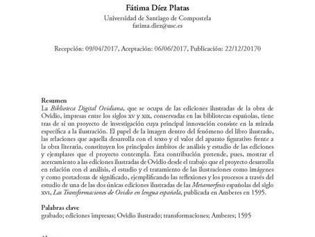 Nuevo artículo en Studia Aurea