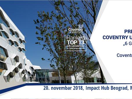 Coventry University dolazi u Beograd 20. novembra!