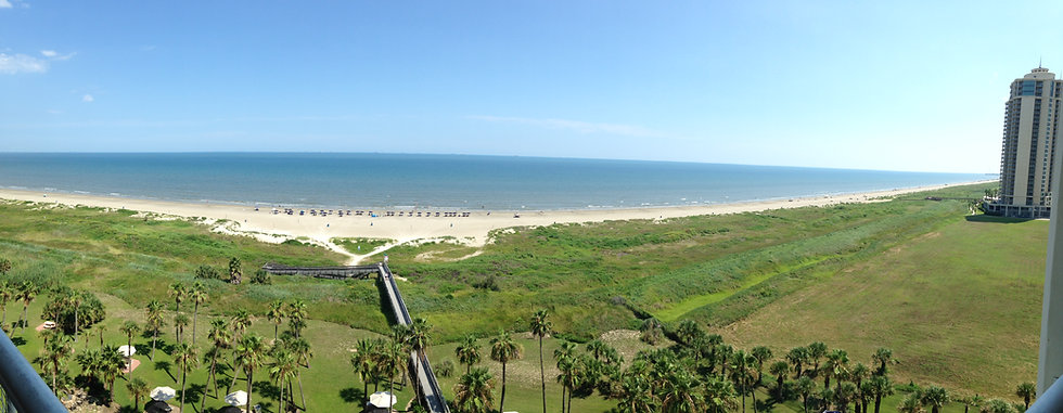 Galveston East Beach Panoramic View 2018