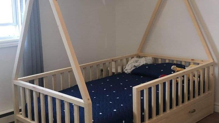 Base de lit simple tipi & barrières