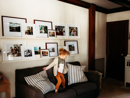 How to display your photos: Gallery Wall Shelves