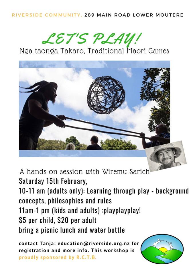 Nga taonga Takaro. Let's play!