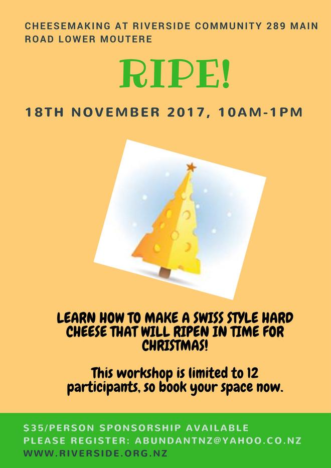 Ripe! Cheese Making Workshop