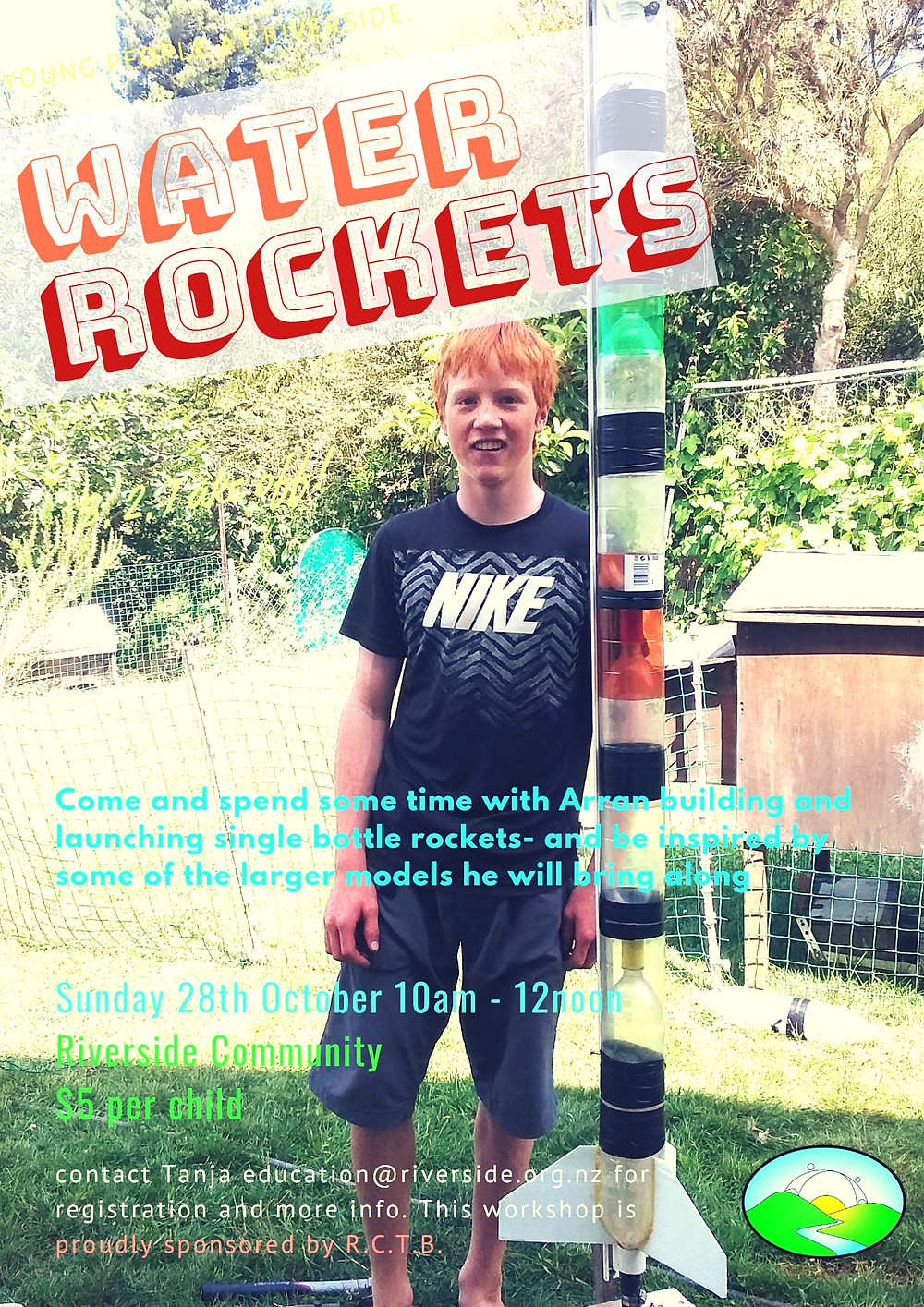 Water Rockets at Riverside Poster