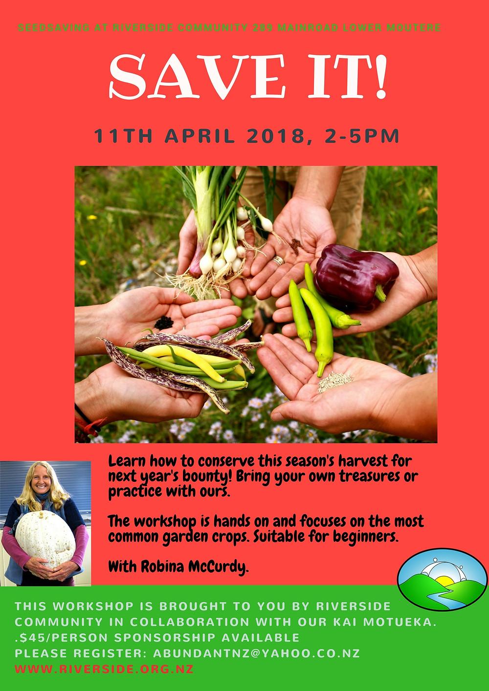 Seed Saving Workshop Poster
