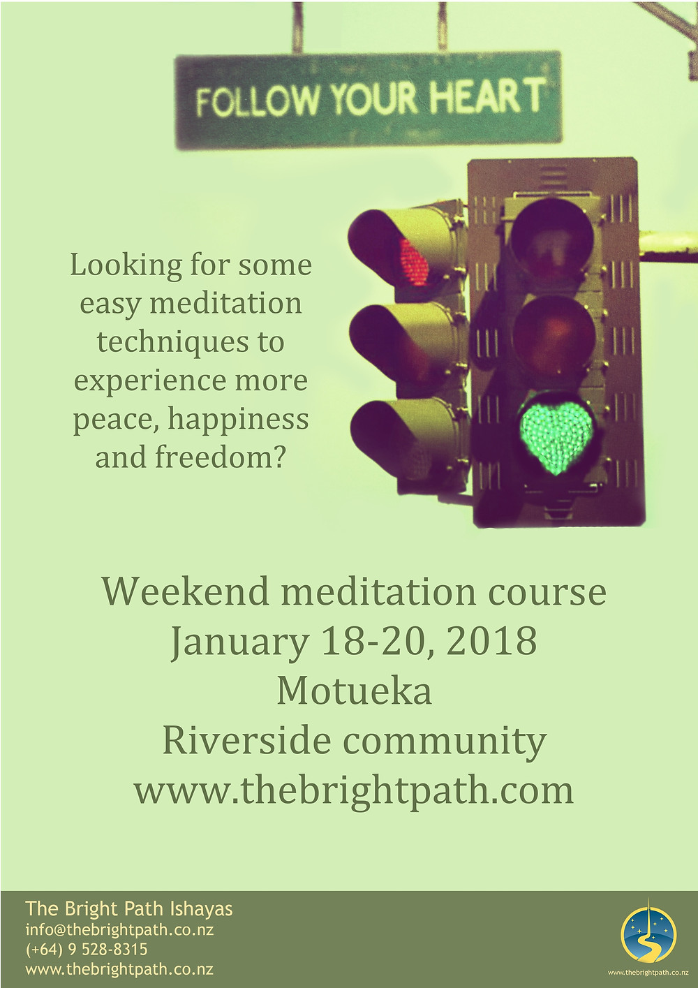 Bright Path Meditation Poster
