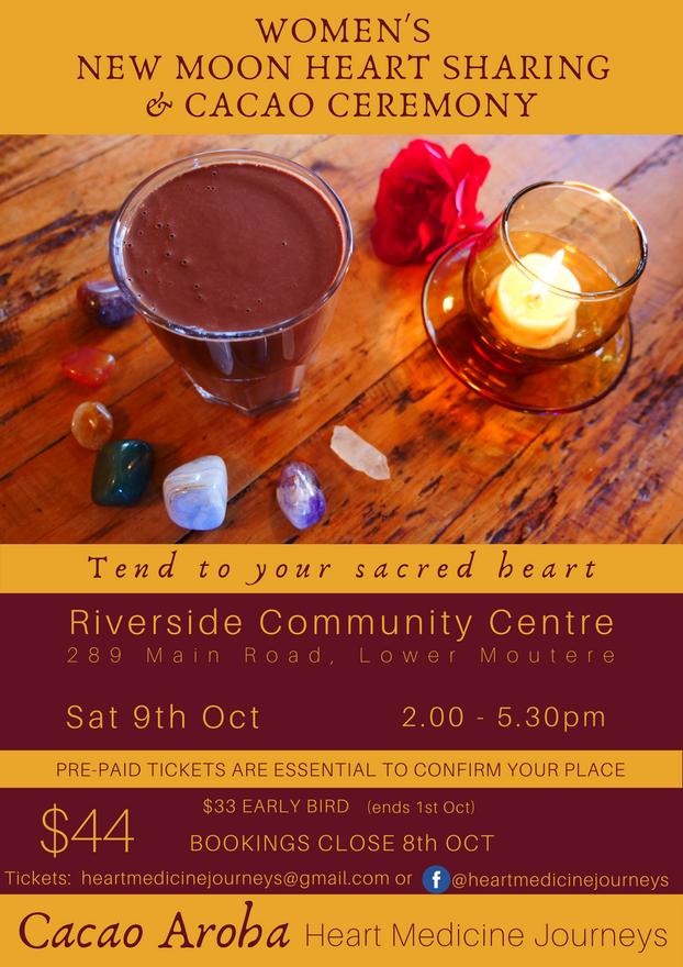 Women's New Moon Heart Sharing & Cacao Ceremony
