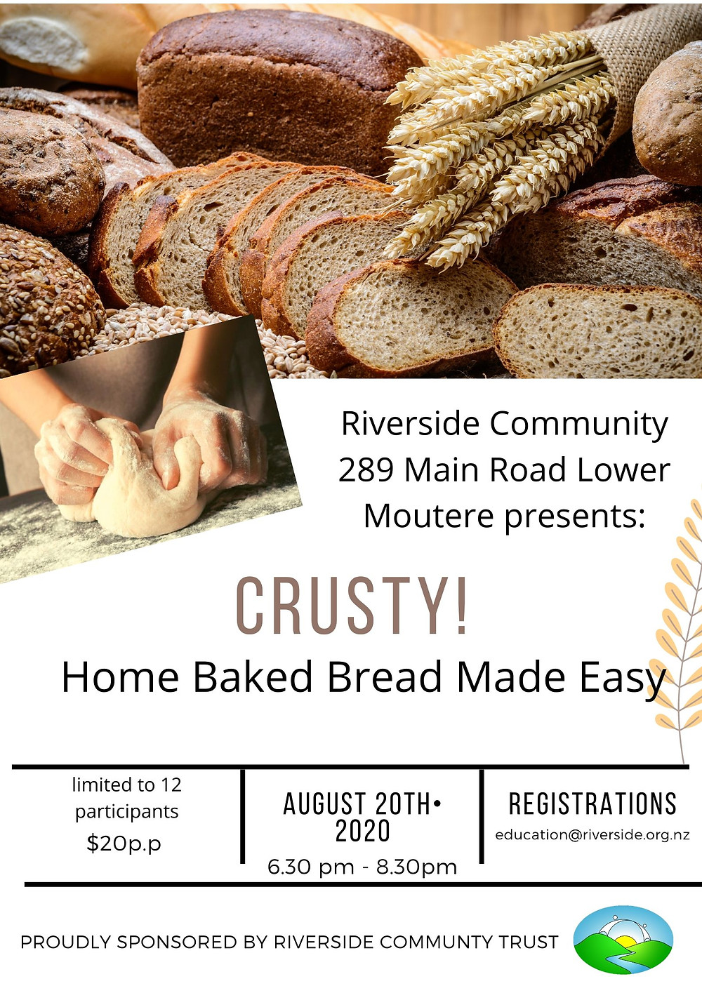 Bread Workshop at Riverside August 2020