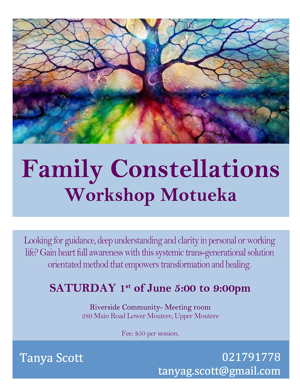 Family Constellations colorful Tree