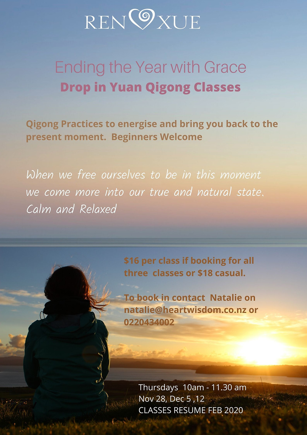 Yuan Qigong Drop In Classes at Riverside Poster
