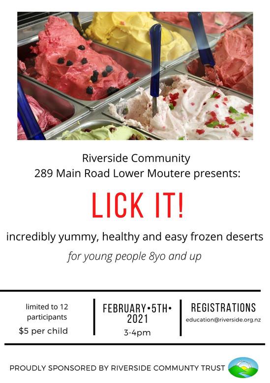Frozen Desserts Workshop For Kids (8 years+)