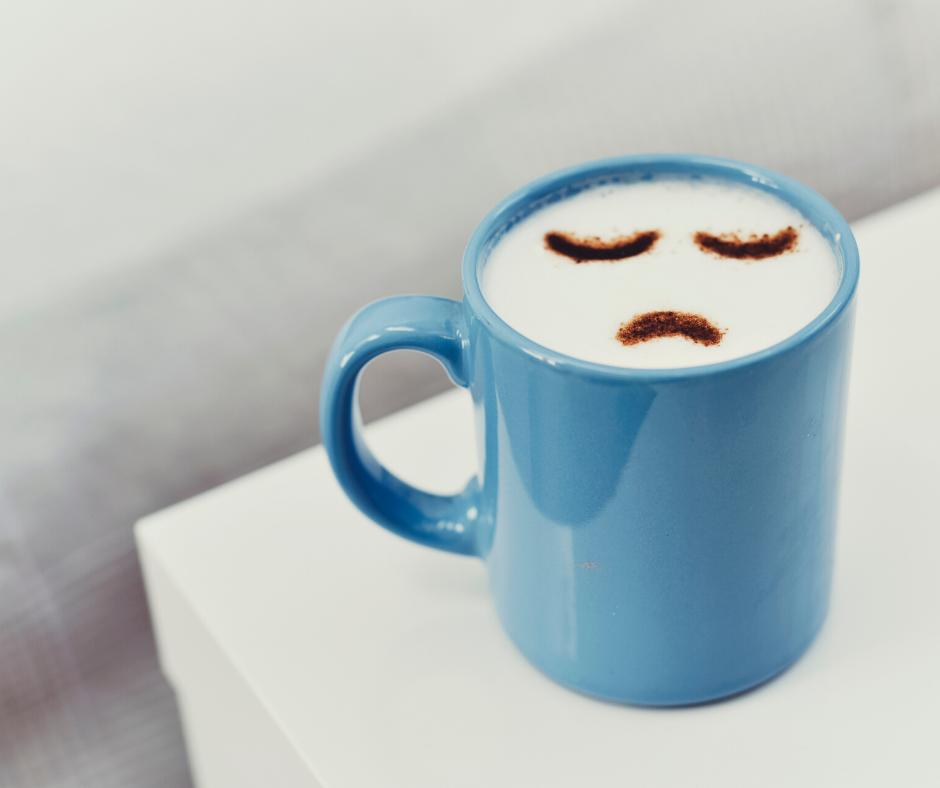 Sad milk cup