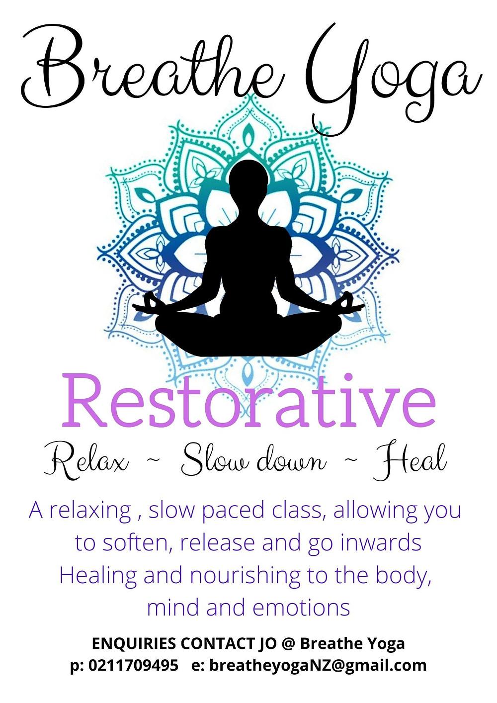 Restorative Yoga at Riverside Community NZ poster