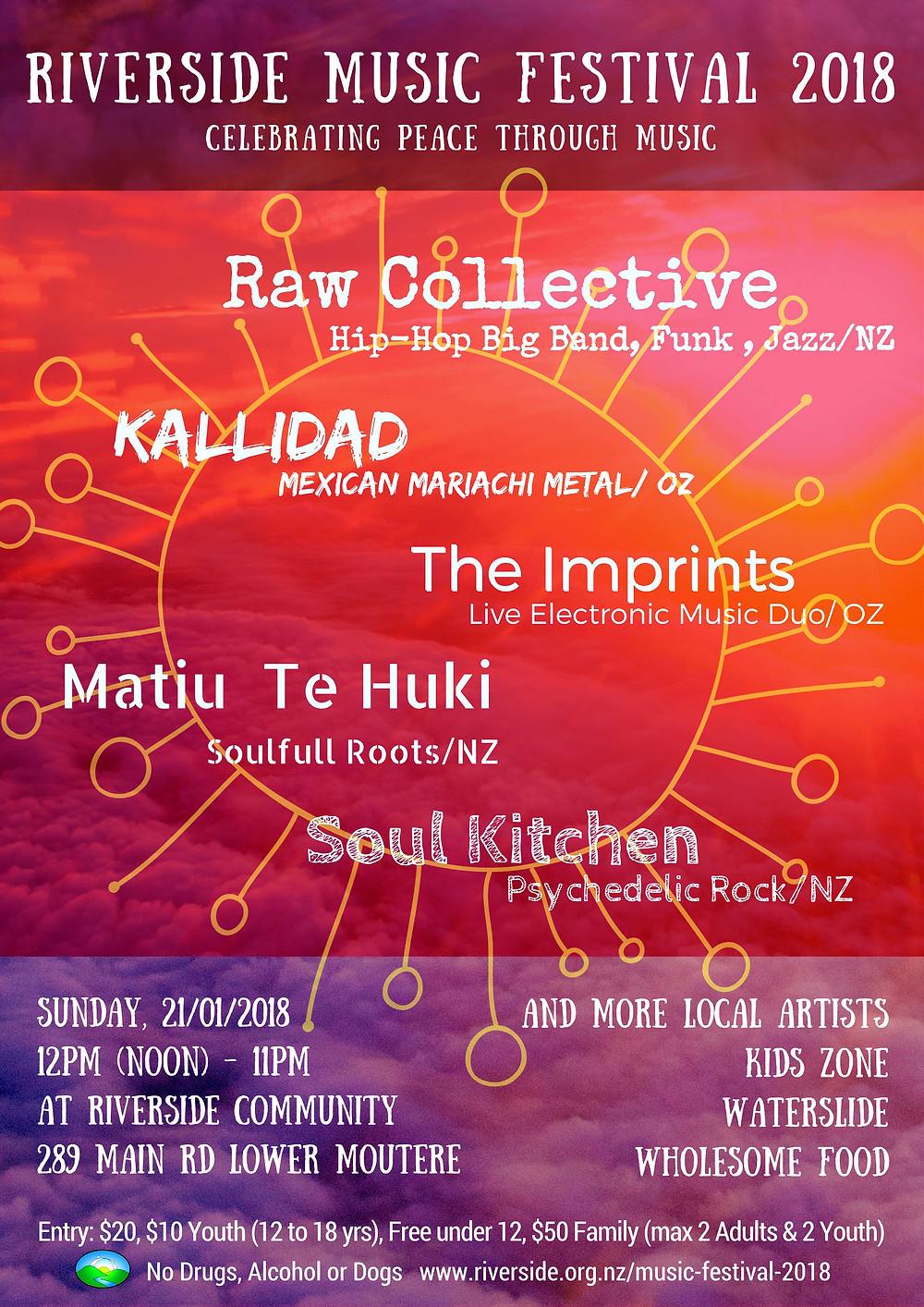 Riverside Music festival 2018 Poster