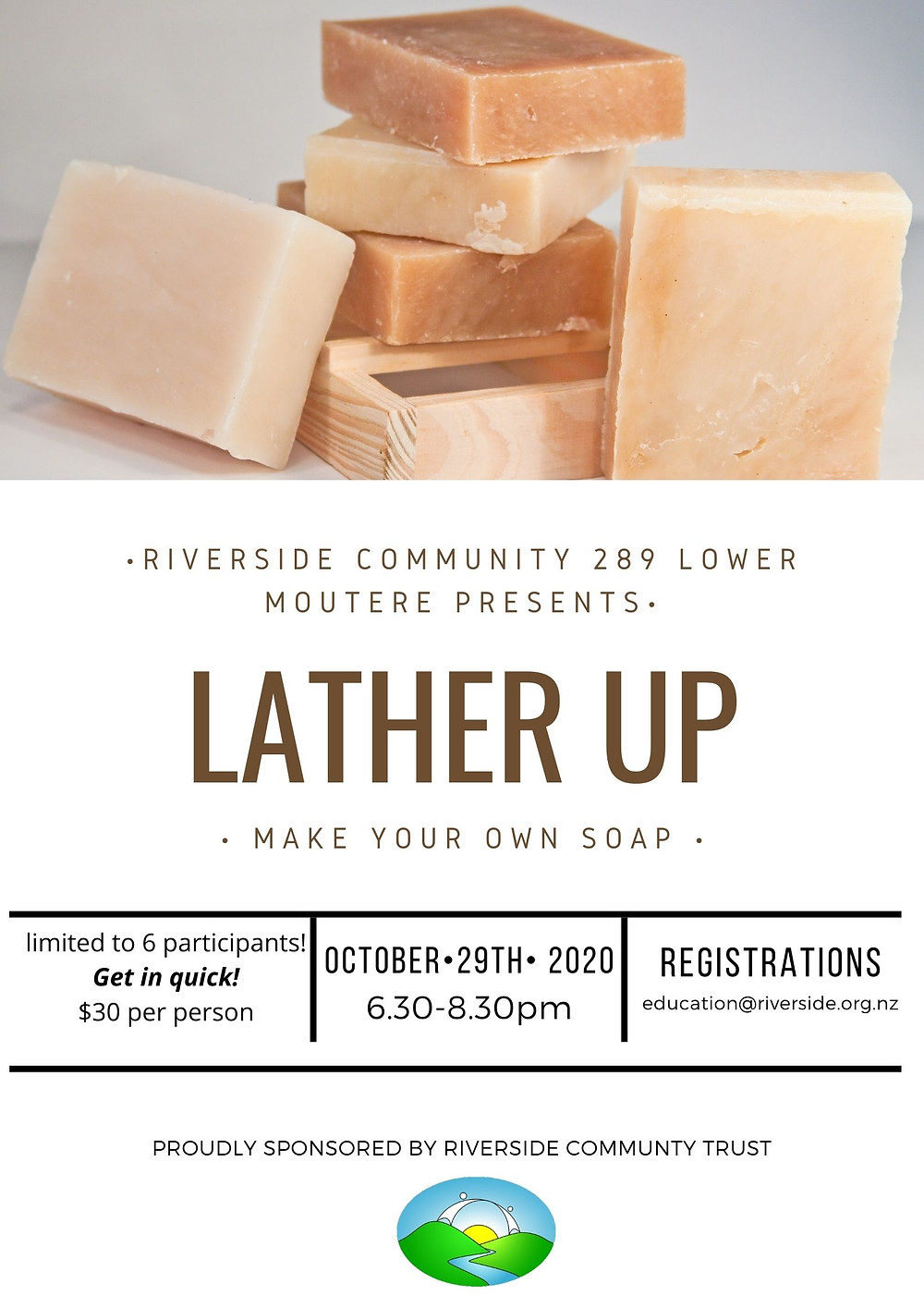 Soap Making Workshop Poster Riverside Community Trust