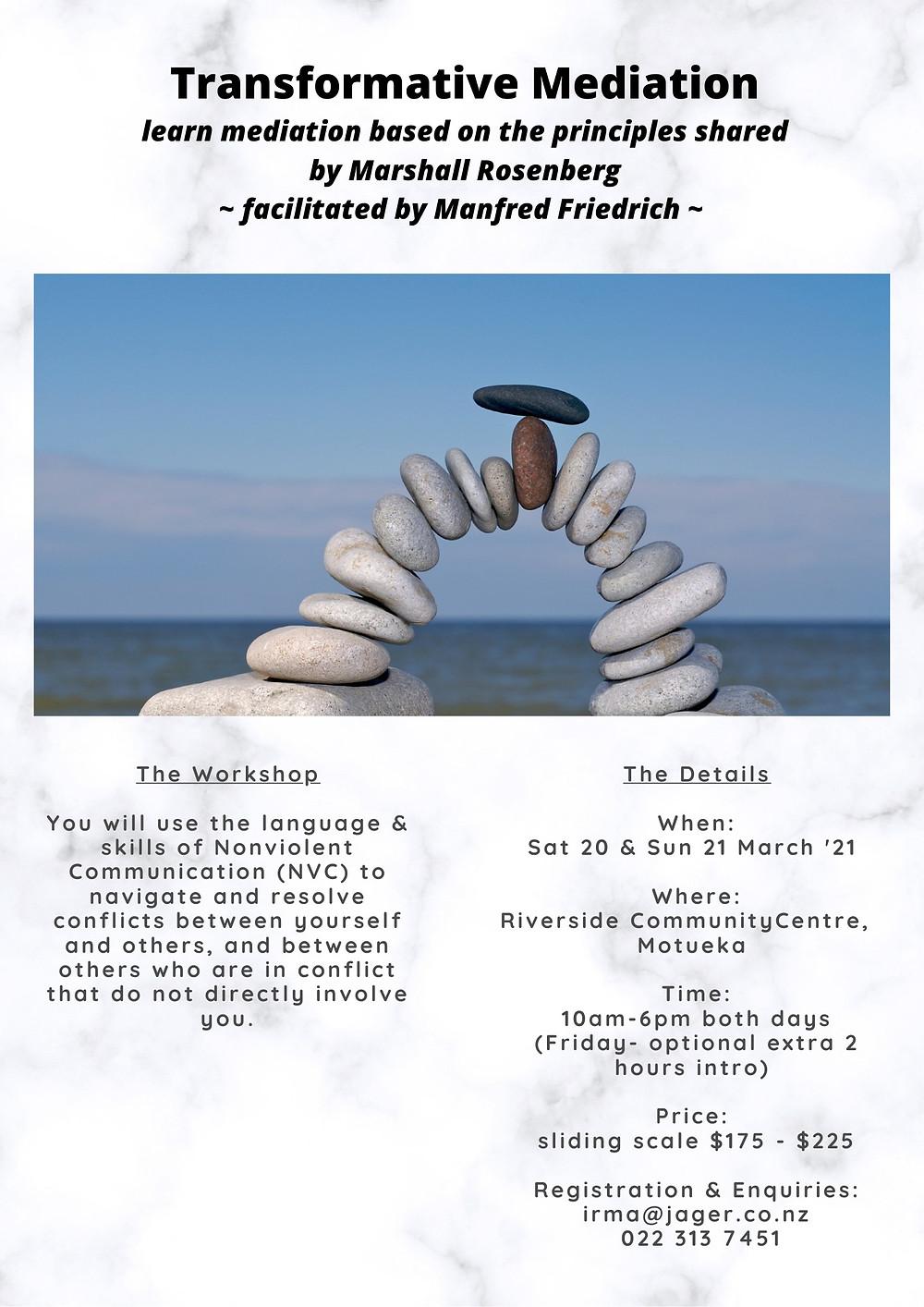 Transformative Mediation Workshop at Riverside Community NZ