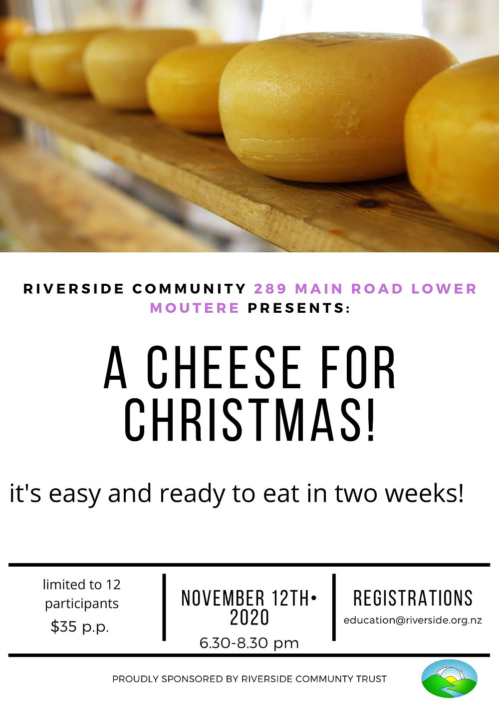 Cheese Making Workshop at Riverside December 2020