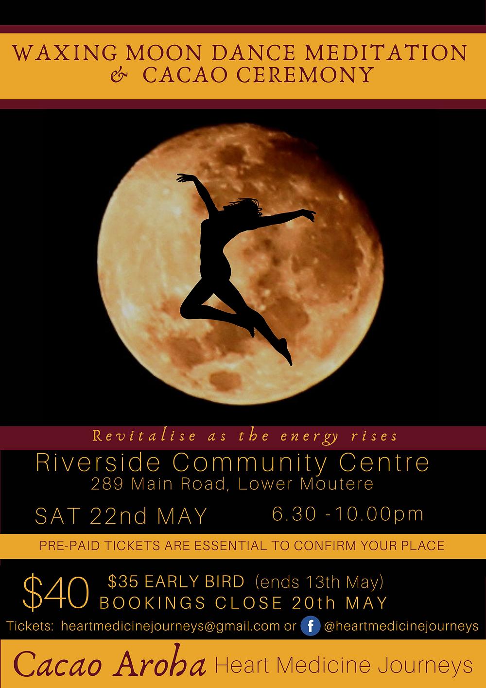 Waxing Moon Dance Riverside Poster