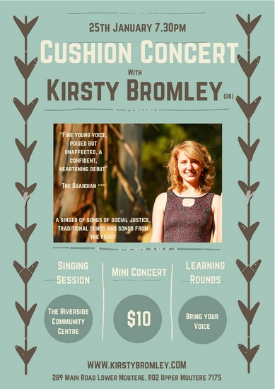 Flyer Kirsty Bromley Cushion Concert