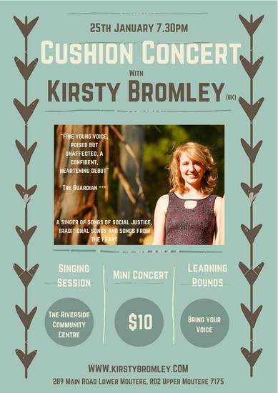 Cushion Concert with Kirsty Bromley
