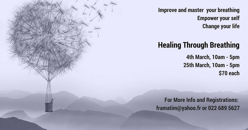 Healing through Breathing Poster