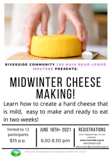 Cheese Making - June 2021