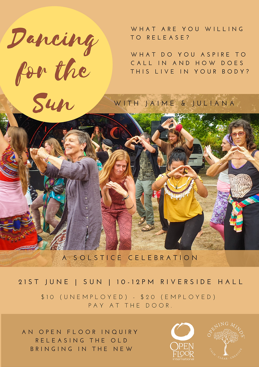 Dancing for the sun workshop poster
