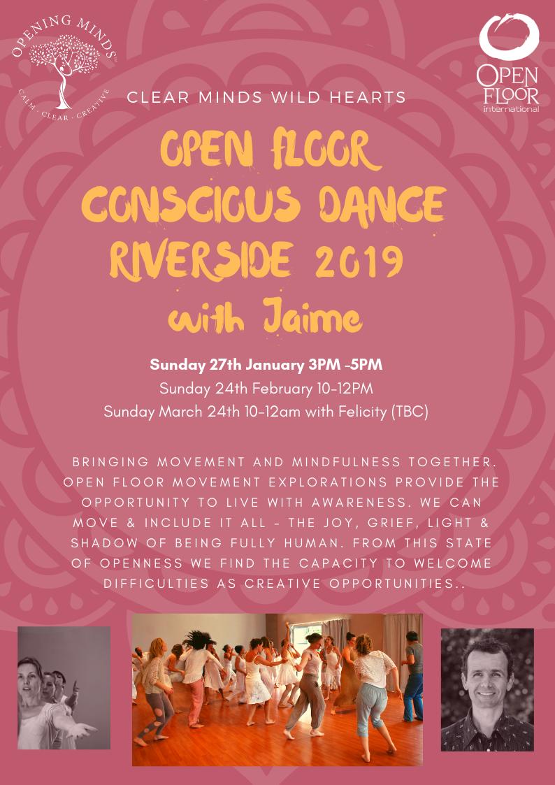 open floor dance poster at riverside