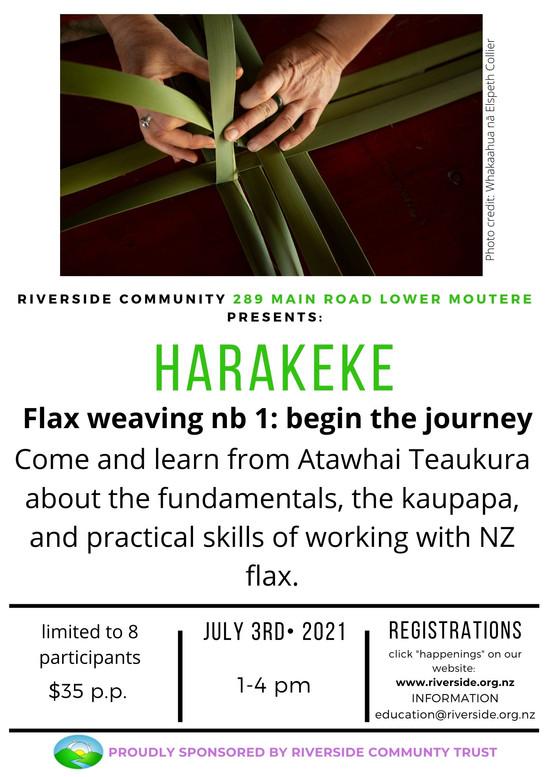 Harakeke Flax Weaving (#1): Begin the Journey