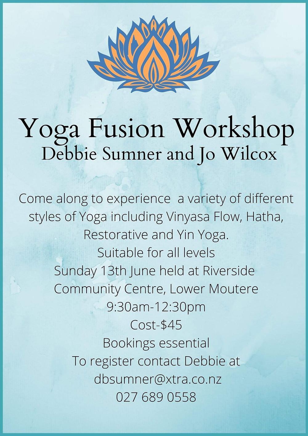 Yoga Fusion Workshop Poster