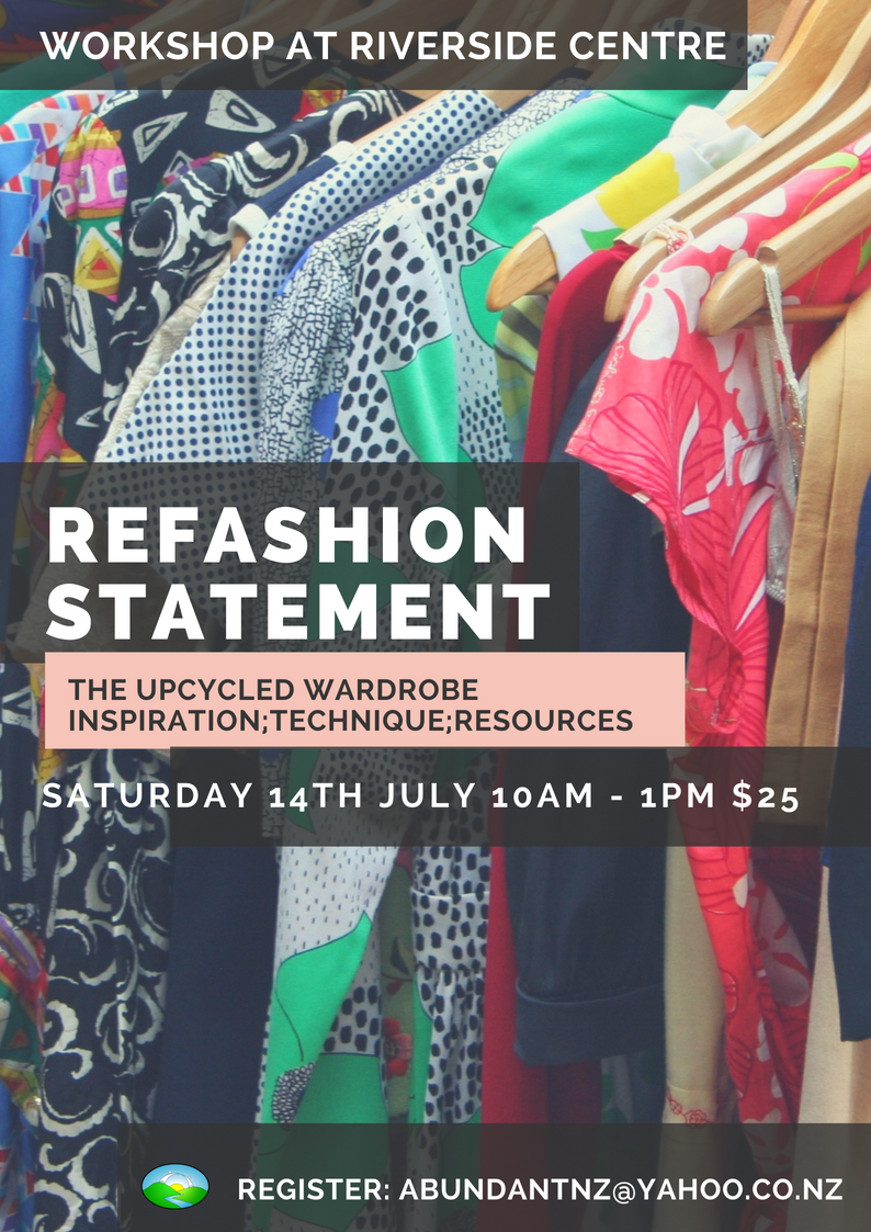 Upcycled Clothing Workshop at Riverside