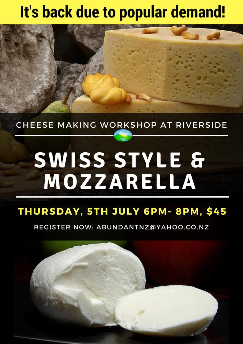 Cheese Making Workshop at Riverside Poster