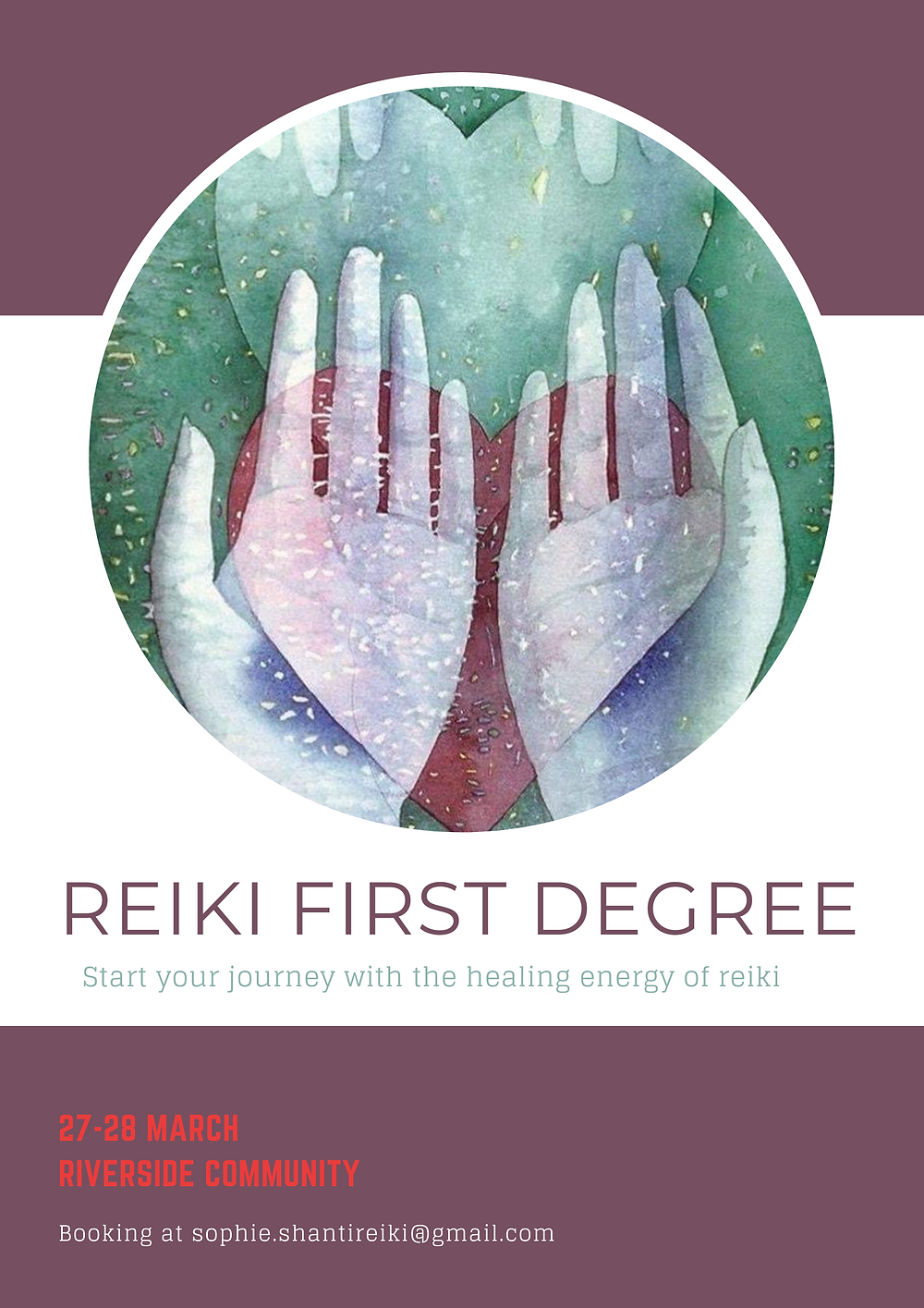 Reiki course at Riverside Community NZ
