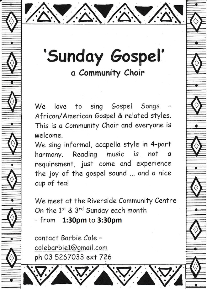 'Sunday Gospel' Choir