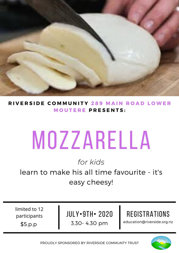 Mozarella Making For Kids (7years+)