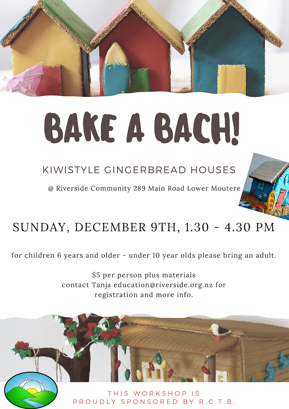 Bake a Bach Riverside Workshop Poster