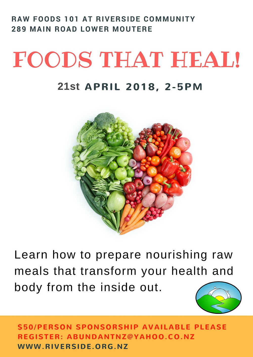 Raw Foods Workshop Poster