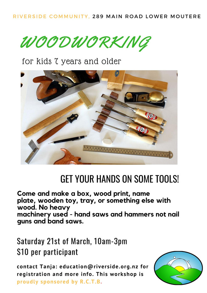 Woodworking For Kids (7 years+)