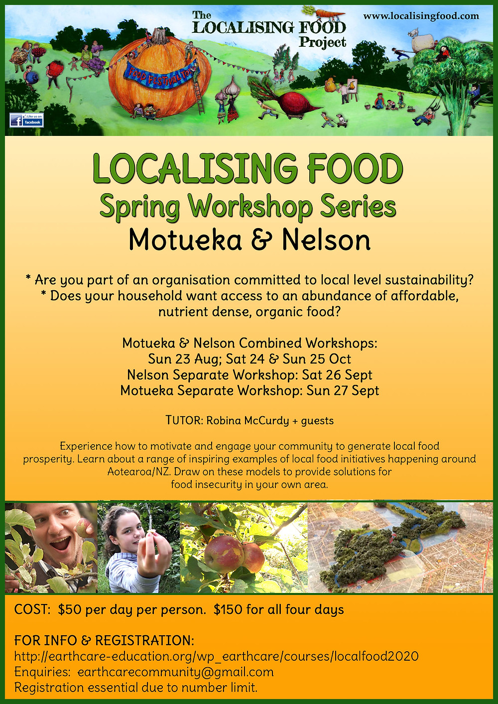 Localising Food Workshop Series Poster