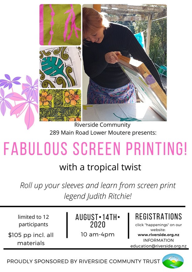 Fabulous Screen Printing with a Tropical Twist