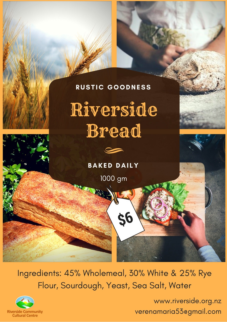Fresh Riverside Bread Poster