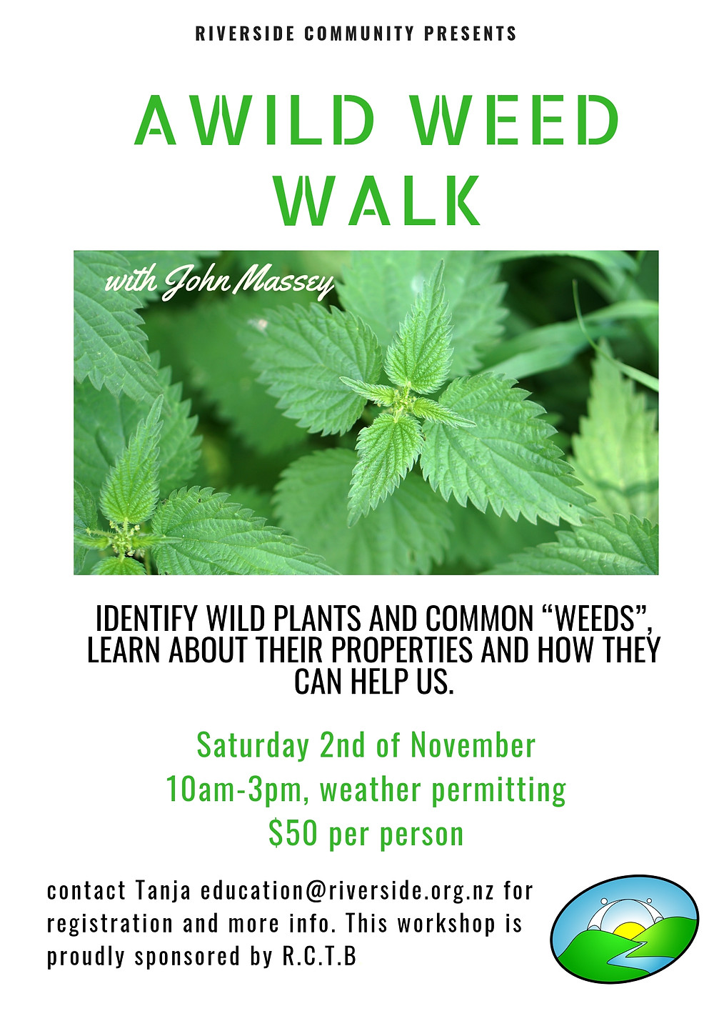 John Massey Wild Weed Walk at Riverside
