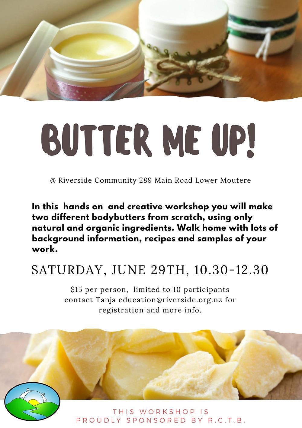 Body Butter Workshop Poster