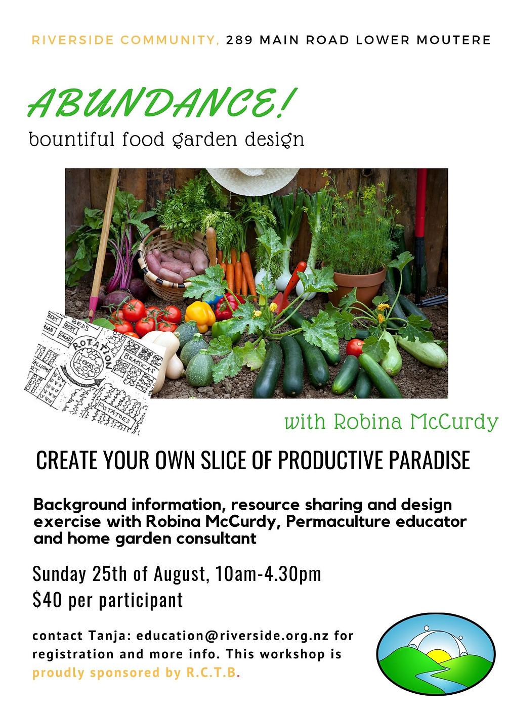 Garden Design Workshop Riverside Poster