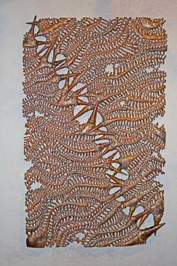'Edges' Copper Panel, 2017